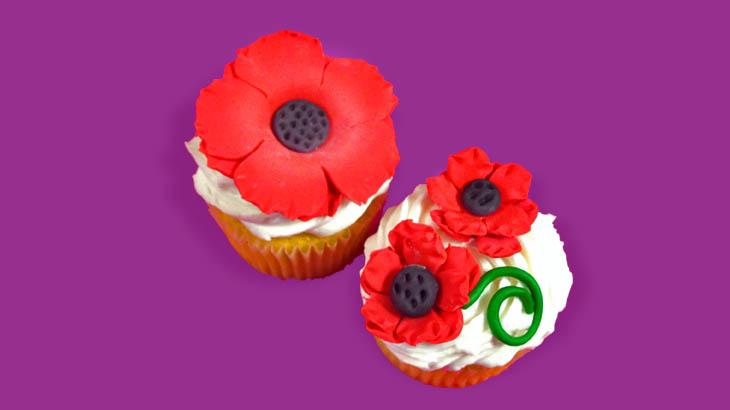 Poppy flower cupcakes sugarplum studio poppy flower cupcakes mightylinksfo